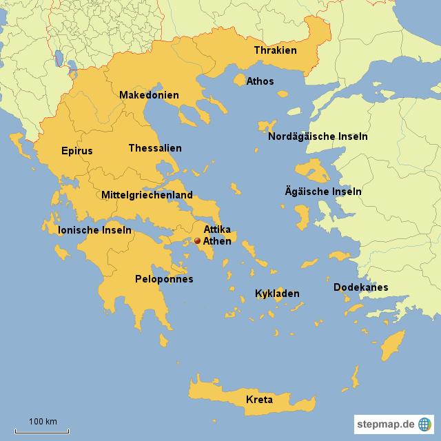 griechenland landkarte StepMap   Griechenland Karte   Landkarte für Griechenland griechenland landkarte