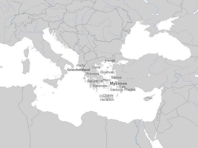 Karte Griechenland Mykonos.Stepmap Griechenland Mykonos Herausgezooomt Landkarte Für