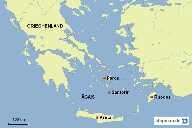 griechische inseln karte StepMap   Griechische Inseln   Landkarte für Deutschland griechische inseln karte