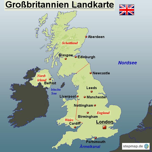 karte von großbritannien StepMap   Großbritannien Landkarte   Landkarte für Großbritannien karte von großbritannien