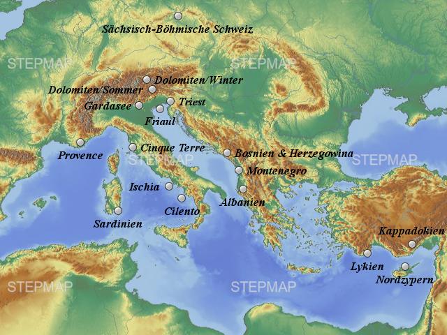 Große Landkarte
