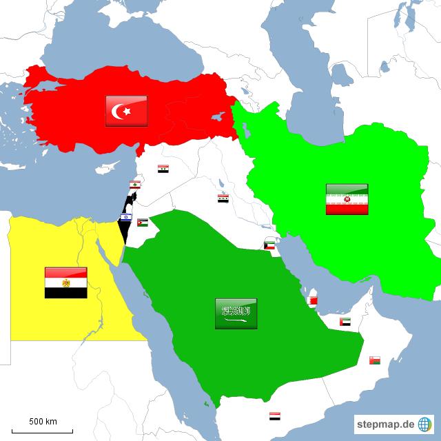 Nahost Karte.Stepmap Großmächte In Nahost Landkarte Für Asien