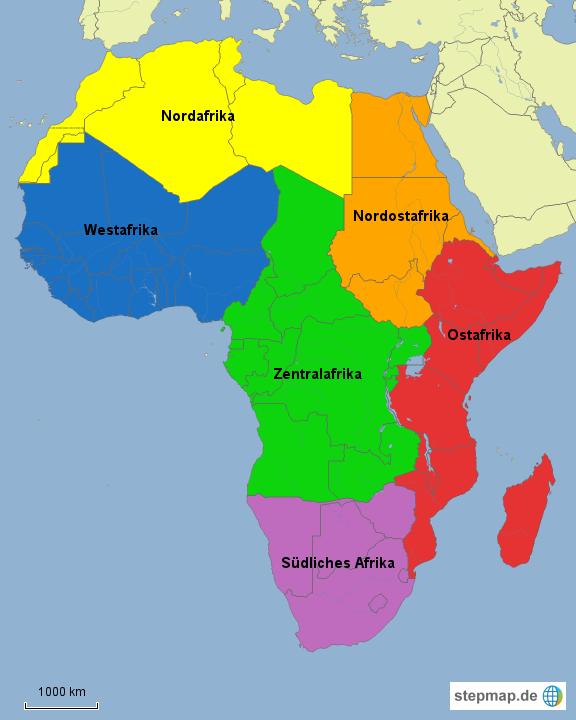 Regionen Afrika