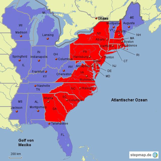 Gründerstaaten Usa