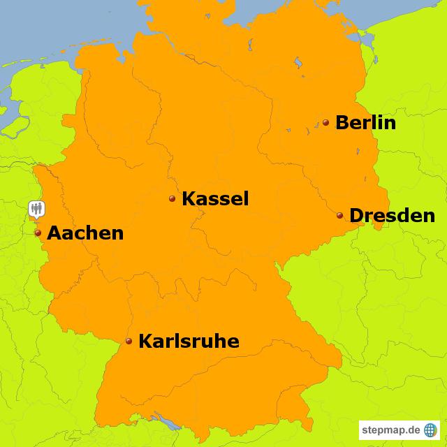 aachen karte deutschland StepMap   Grundkarte Testtouren Aachen   Landkarte für Deutschland