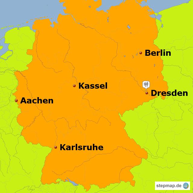dresden landkarte deutschland StepMap   Grundkarte Testtouren Dresden   Landkarte für Deutschland