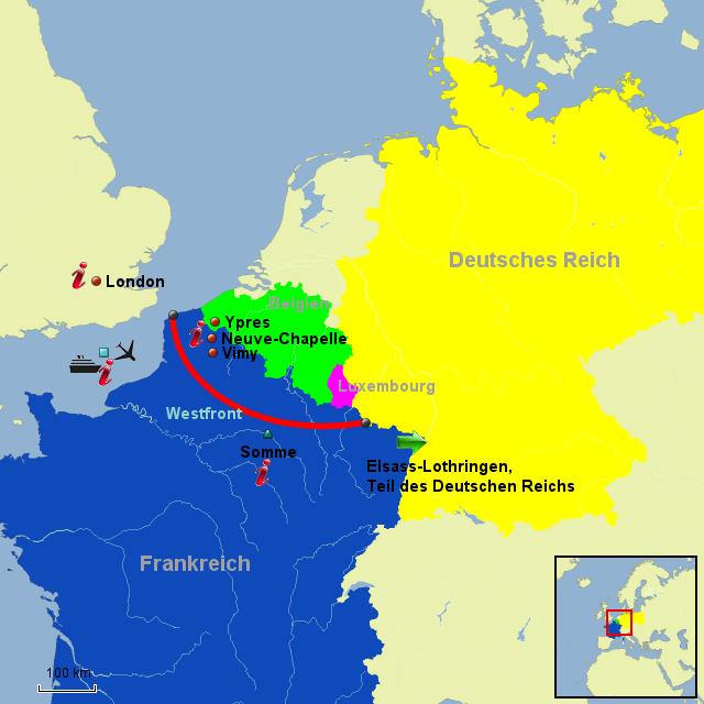Westfront 1 Weltkrieg Karte.Stepmap Gruppe 8 Kanada Am Westfront Landkarte Fur Europa
