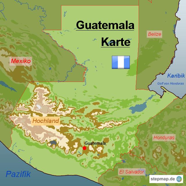 Guatemala Karte.Stepmap Guatemala Karte Landkarte Für Guatemala