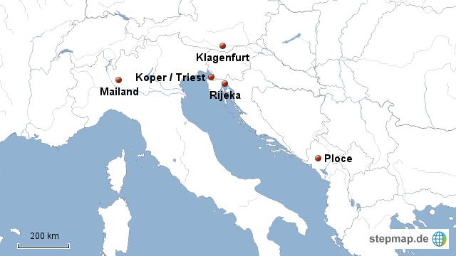 Ex Jugoslawien Karte.Stepmap Häfen Ex Jugoslawien Landkarte Für Deutschland