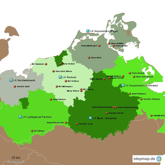 stepmap h ndler mecklenburg vorpommern landkarte f r deutschland. Black Bedroom Furniture Sets. Home Design Ideas
