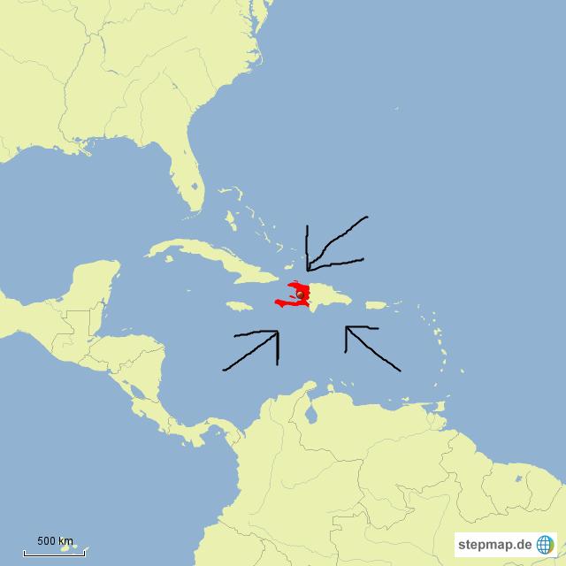 Haiti Karte.Stepmap Haiti Landkarte Für Haiti