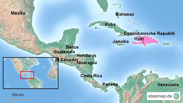 Haiti Karte.Stepmap Haiti Geographische Lage Landkarte Für Haiti