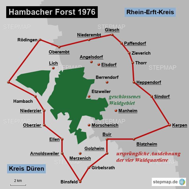 hambacher forst karte StepMap   Hambacher Forst 1976   Landkarte für Deutschland