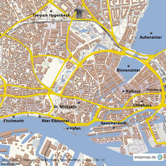 Hamburg Karte Sehenswurdigkeiten.Stepmap Hamburg Sehenswurdigkeiten Landkarte Fur Welt