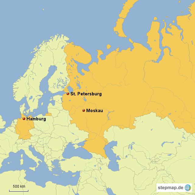 Stepmap Hamburg St Petersburg Landkarte Fur Deutschland