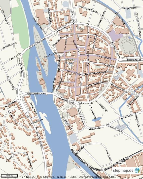 Hameln Karte.Stepmap Hameln Landkarte Für Welt