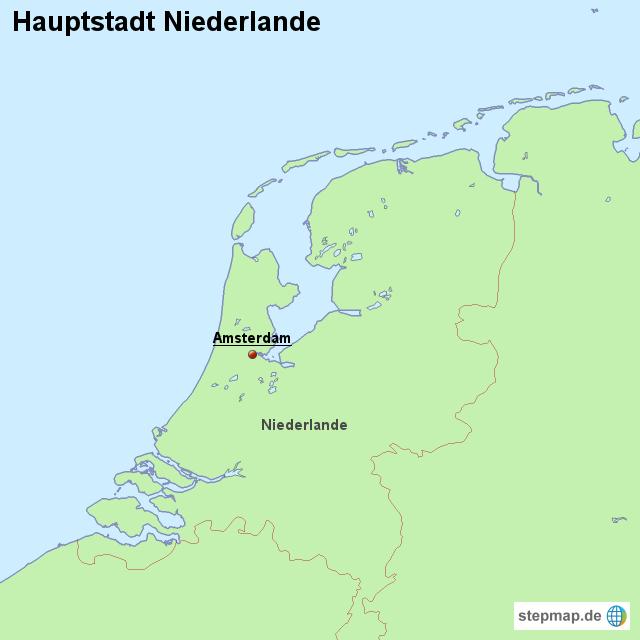stepmap hauptstadt niederlande landkarte f r niederlande. Black Bedroom Furniture Sets. Home Design Ideas