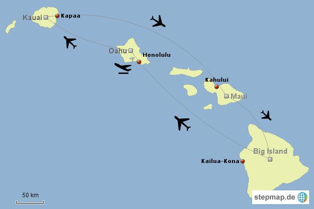 Koordinaten Hawaii