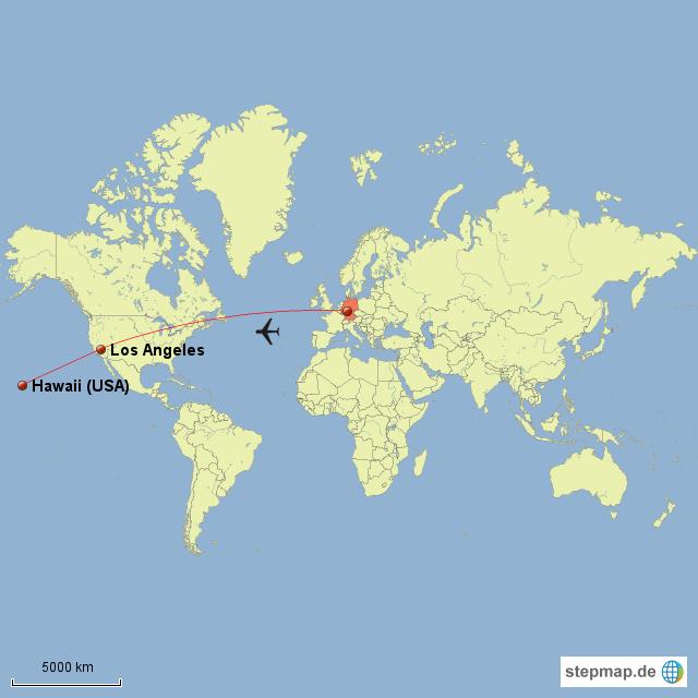 landkarte hawaii StepMap   Hawaii auf Weltkarte   Landkarte für Nordamerika landkarte hawaii