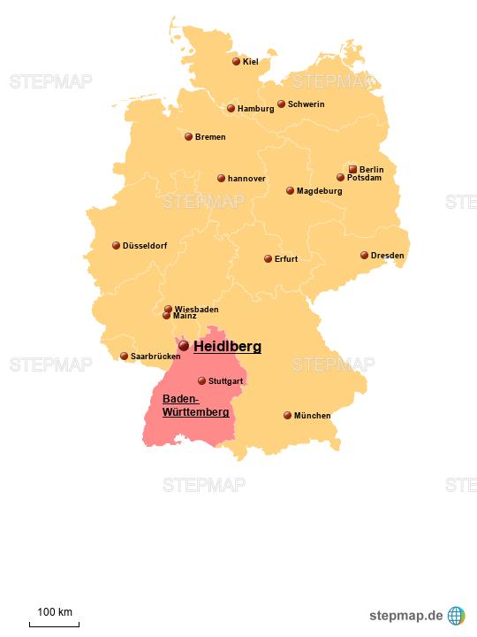heidelberg karte StepMap   Heidelberg Karte Deutschland   Landkarte für Deutschland