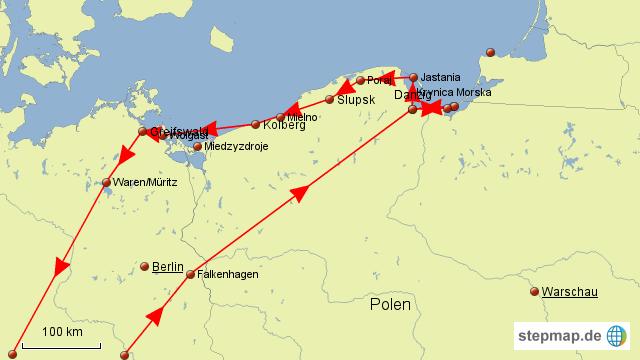Karte Ostseeküste Polen.Stepmap Herbsturlaub 2013 Polnische Ostseeküste Landkarte Für