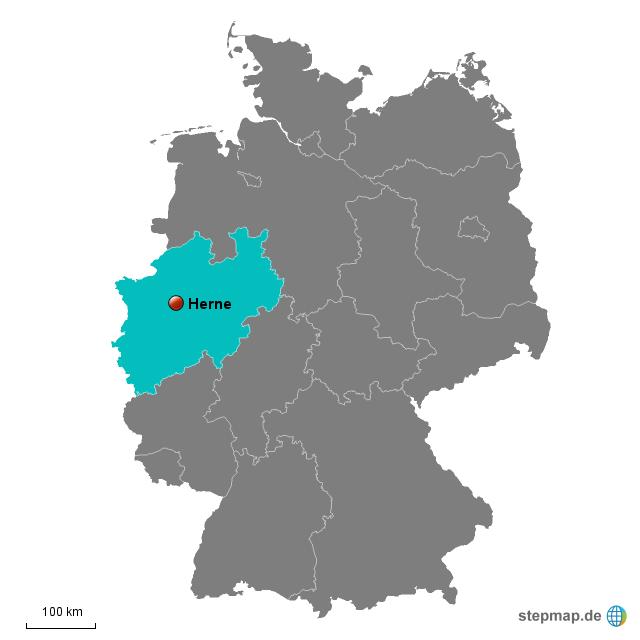 Herne Karte.Stepmap Herne Landkarte Für Deutschland