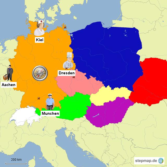 Karte Mit Himmelsrichtungen Online