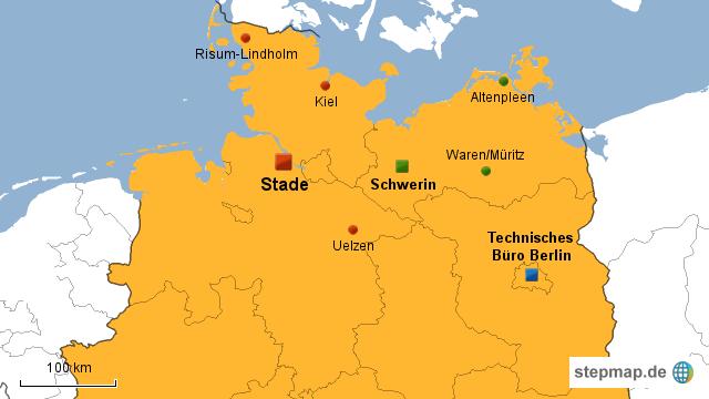 stade karte deutschland StepMap   Hörmann GmbH Stade   Niederlassungen   Landkarte für