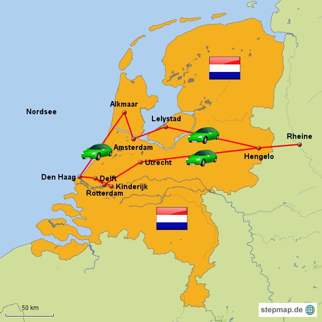 Karte Von Holland Landkarte Niederlande.Stepmap Holland Landkarte Für Niederlande