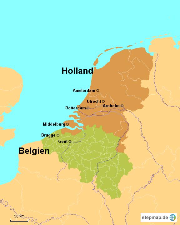 Karte Von Holland Und Belgien.Stepmap Holland Belgien Landkarte Fur Deutschland