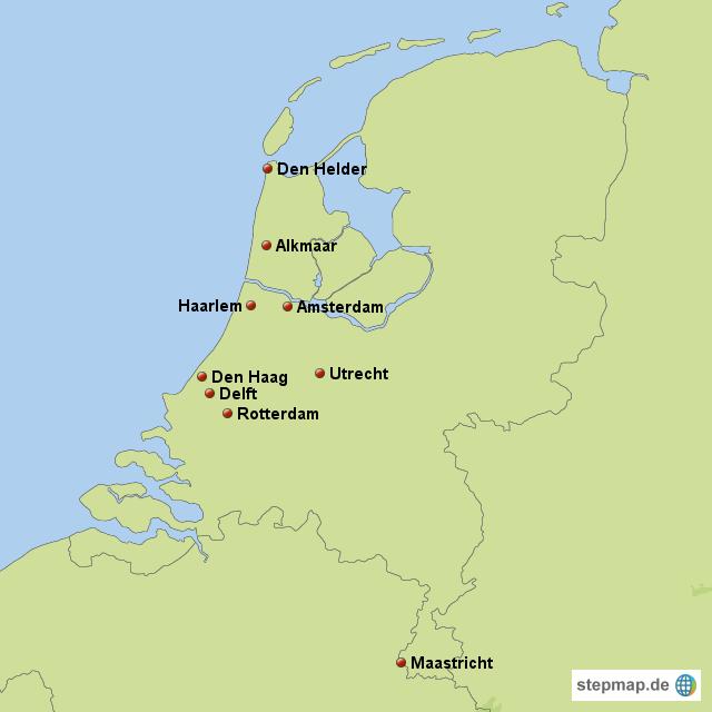 Karte Von Holland Und Belgien.Stepmap Holland Belgien Reise 1996 Landkarte Fur Niederlande