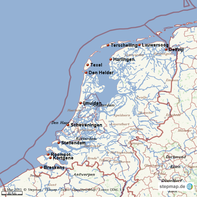 Karte Von Holland Landkarte Niederlande.Karte Holland Küste Karte