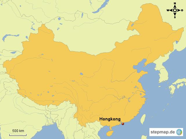 Karte China Hong Kong.Stepmap Hongkong Lage China Landkarte Für China