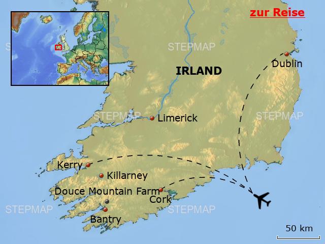 Irland Karte.Stepmap Ieh01 Douce Mountain Farm Irland Karte Landkarte