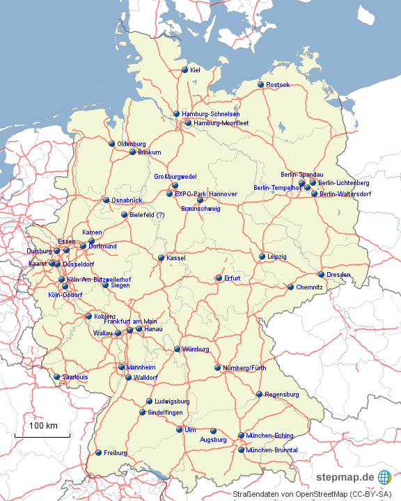 ikea deutschland karte StepMap   IKEA Deutschland   Landkarte für Deutschland ikea deutschland karte
