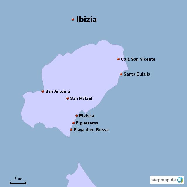 Ibiza Karte Umriss.Stepmap Ibiza Landkarte Für Deutschland