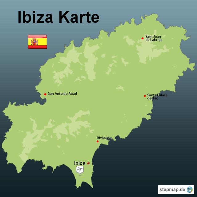 Ibiza Karte Ausdrucken.Stepmap Ibiza Karte Landkarte Für Spanien