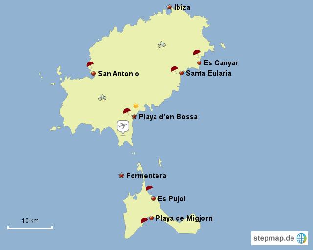 Ibiza Karte Playa D En Bossa.Formentera Strände Sehenswürdigkeiten Und Reisehinweise