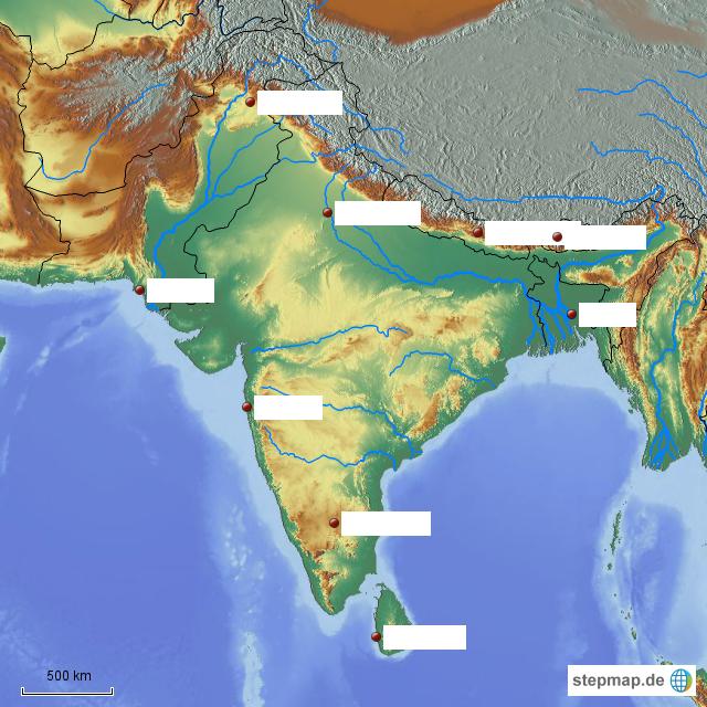 indien topographie von katharinasextl landkarte f r indien. Black Bedroom Furniture Sets. Home Design Ideas