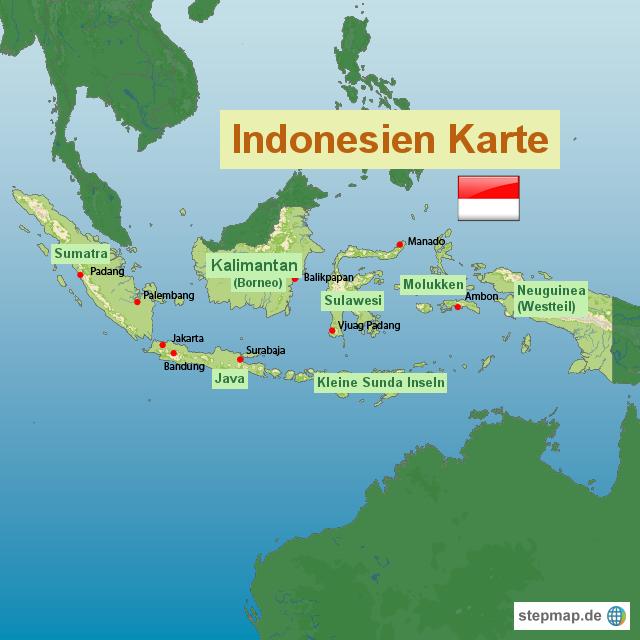 landkarte indonesien StepMap   Indonesien Karte   Landkarte für Indonesien landkarte indonesien