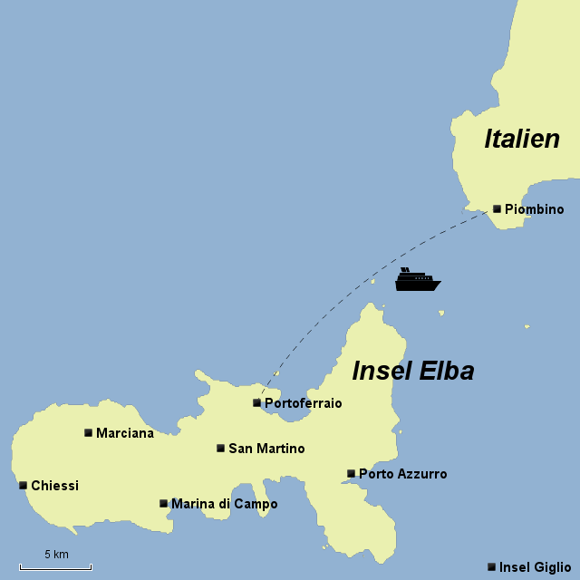 Elba Karte.Stepmap Insel Elba Landkarte Für Italien