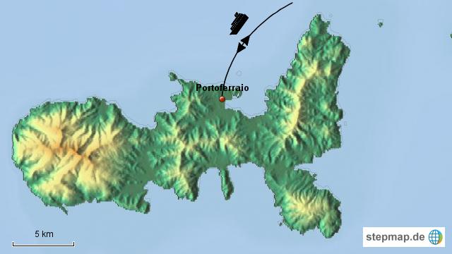 Insel Elba Karte.Stepmap Insel Elba Landkarte Für Italien