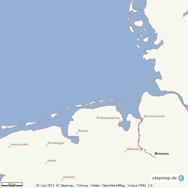 Nordfriesische Inseln Karte.Stepmap Inseln Nordsee D Stumm Landkarte Fur Welt