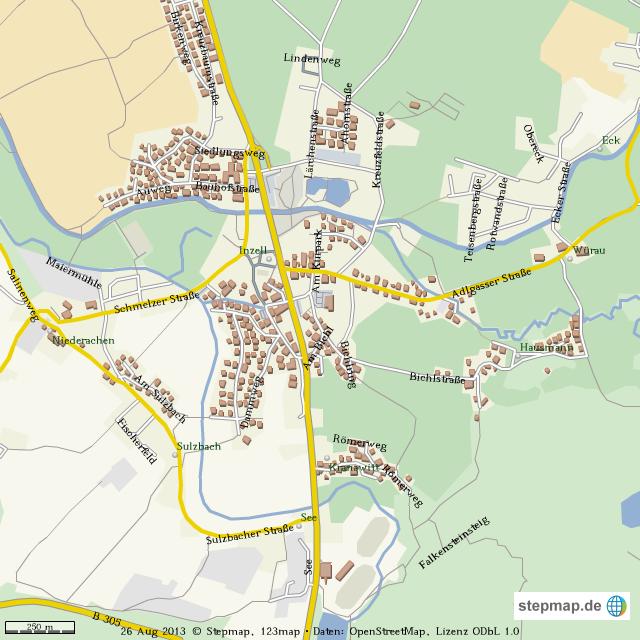 Inzell Karte.Stepmap Inzell Landkarte Für Welt