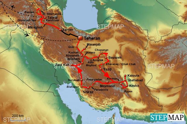 Iran Spielplan