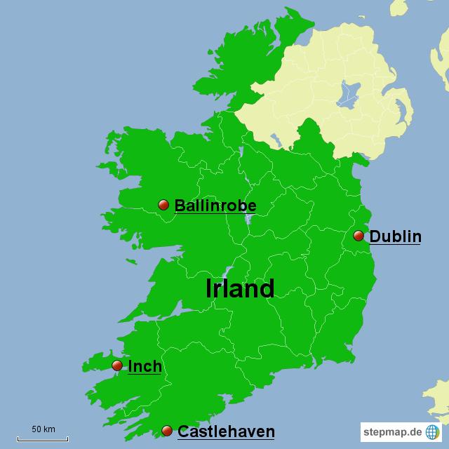 irland hochzeitsreise von sebastian1986 landkarte f r irland. Black Bedroom Furniture Sets. Home Design Ideas