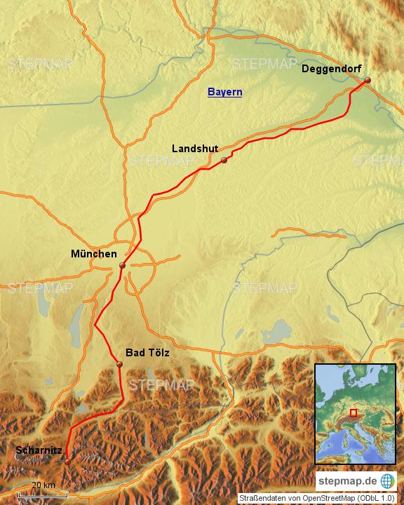 Isarradweg Karte.Stepmap Isarradweg Landkarte Fur Deutschland