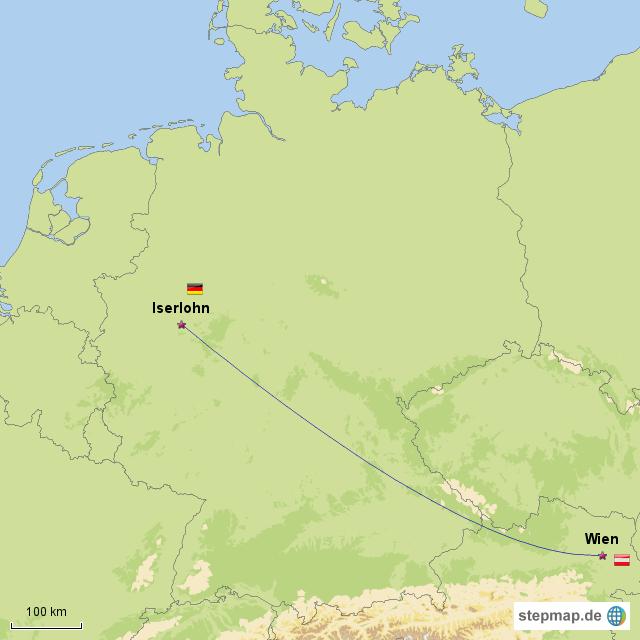 Stepmap Iserlohn Wien Landkarte Fur Deutschland