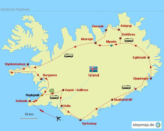 island landkarte StepMap   Island Karte   Landkarte für Deutschland island landkarte