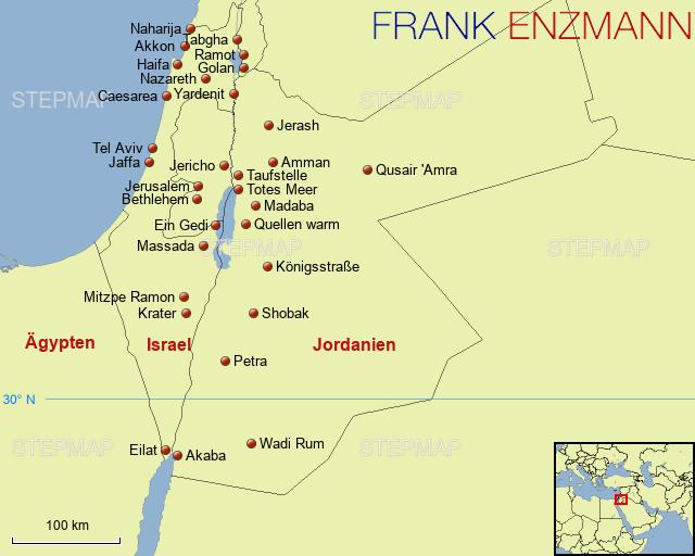 Jordanien Karte.Stepmap Israel Jordanien Landkarte Für Deutschland